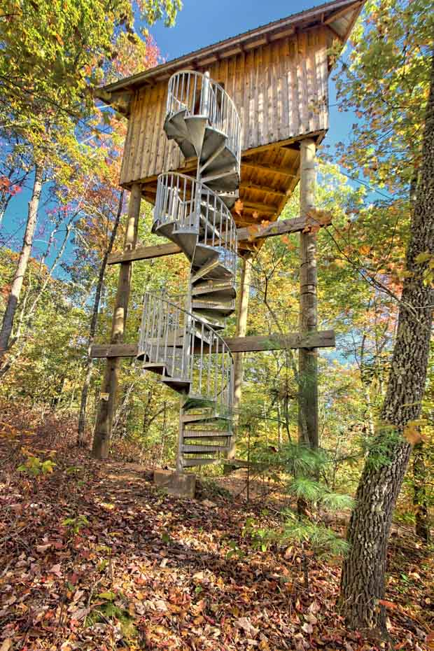 Adventure Spiral Staircase galvanized zip line stair