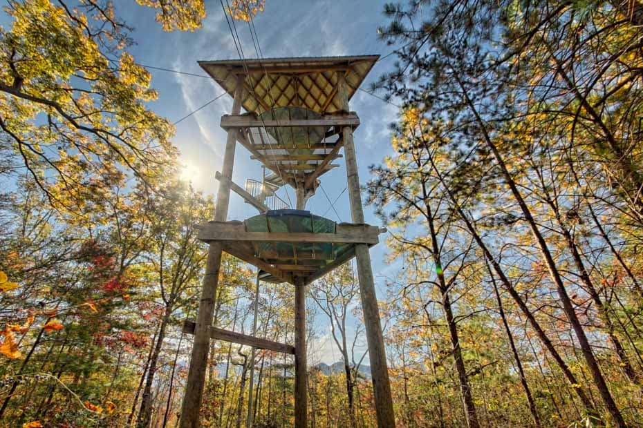 Adventure Spiral Staircase north carolina zip line