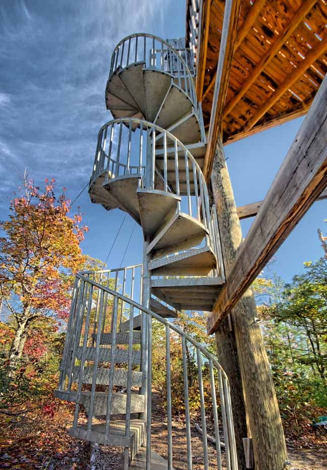 Adventure Spiral Staircase year round adventure course