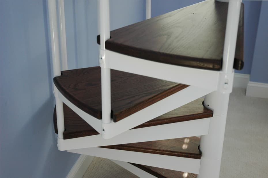 Classic steel with wood Spiral Staircase non code compliant