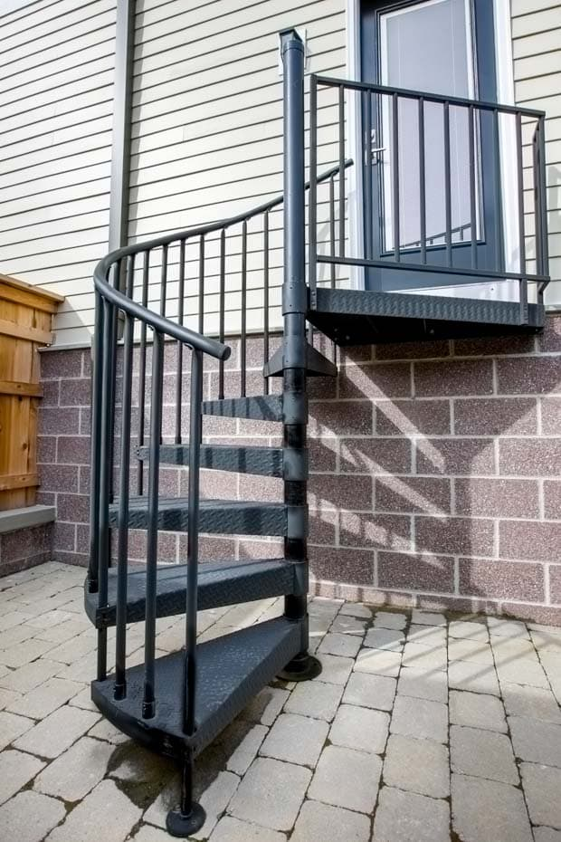 Classic Steel Deck Spiral Staircase side door entry