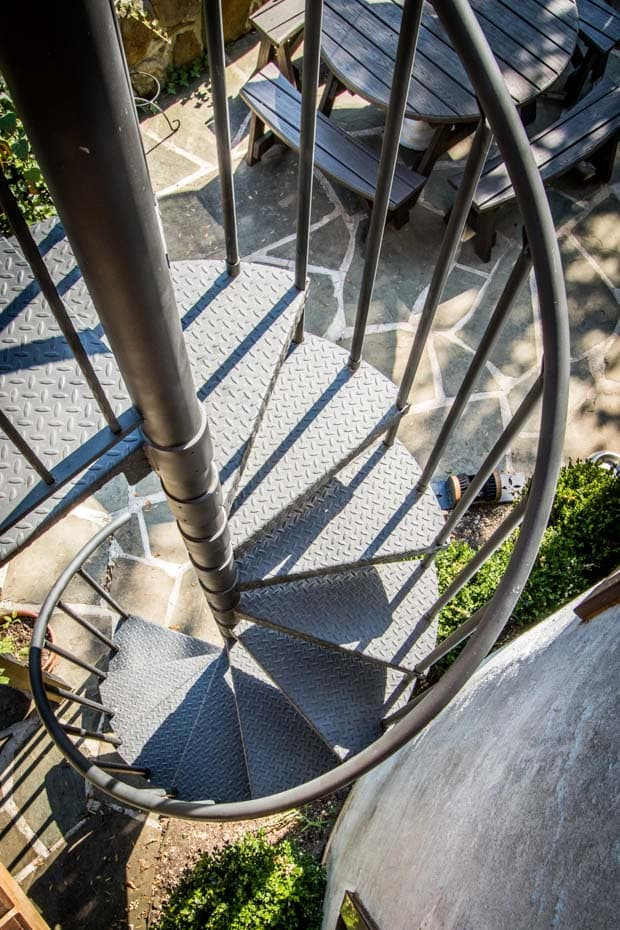 Classic Steel Deck Spiral Staircase industrial deck stairs
