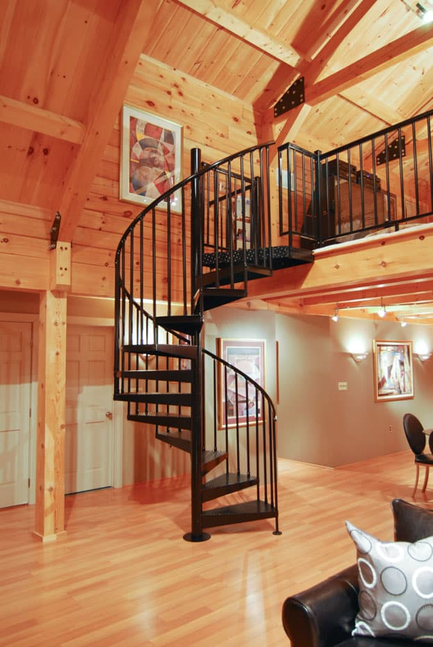 Classic Steel Deck Spiral Staircase rental home stair