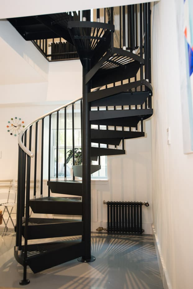 Classic Steel Deck Spiral Staircase building code compliance