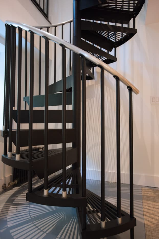 Classic Steel Deck Spiral Staircase stylish manhattan stair
