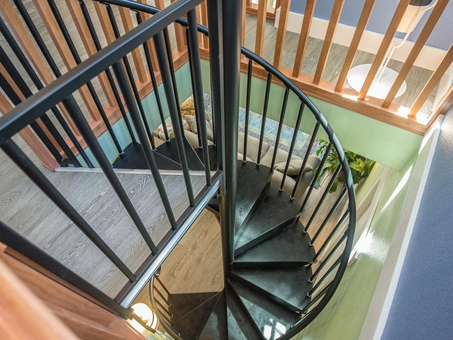 Classic Steel Deck Spiral Staircase attic access stair