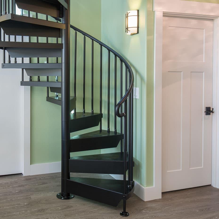 Classic Steel Deck Spiral Staircase code riser loft stair