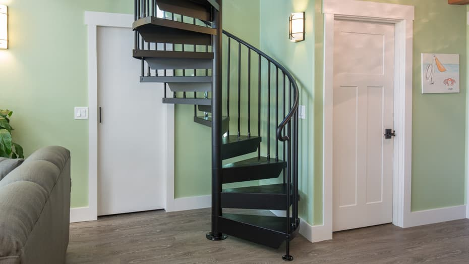Classic Steel Deck Spiral Staircase space saving design