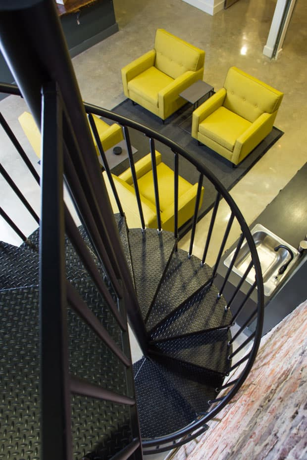 Commercial Spiral Staircase Office Stair