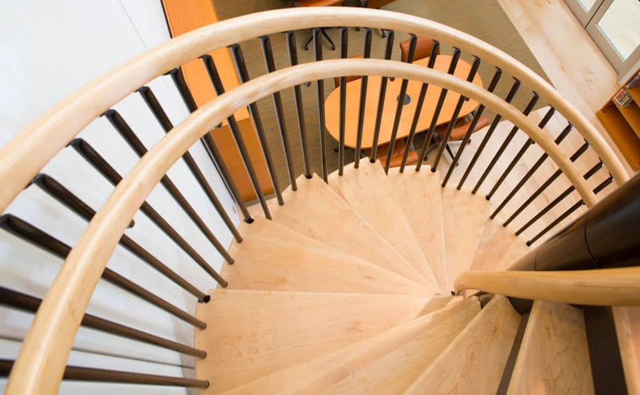 Commercial Spiral Staircase Dual Handrailing