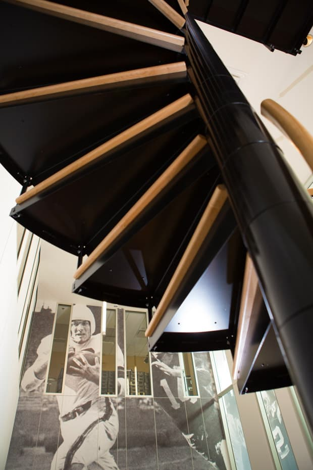 Commercial Spiral Staircase Tread Underside