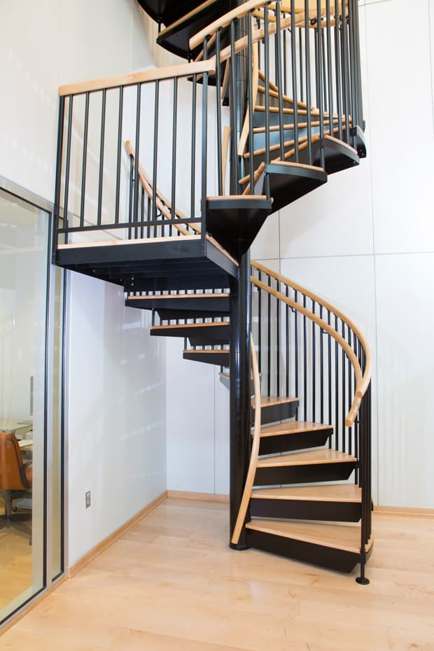 Commercial Spiral Staircase with rest platform