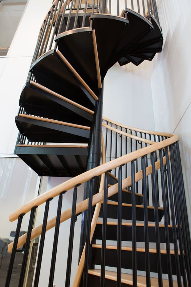 Commercial Spiral Staircase with two handrails
