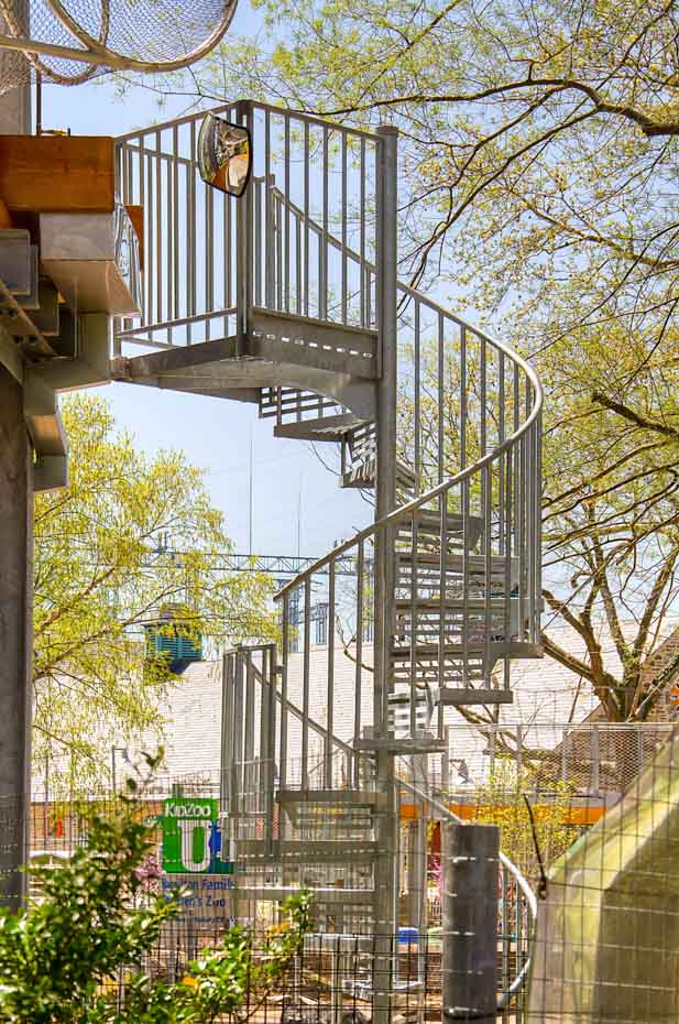 Commercial Spiral Staircase at the philadelphia zoo