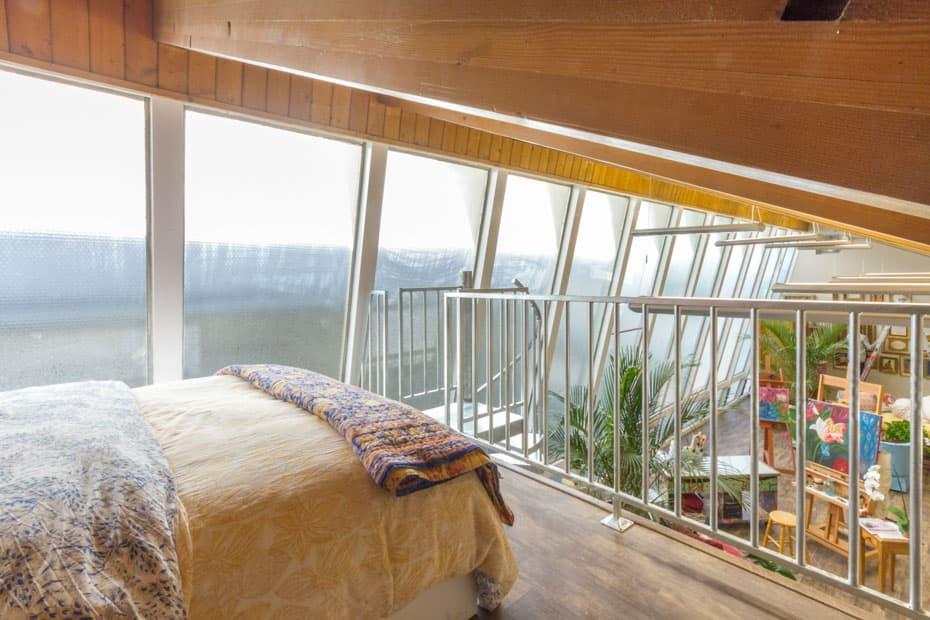 Galvanized Spiral Staircase artist loft