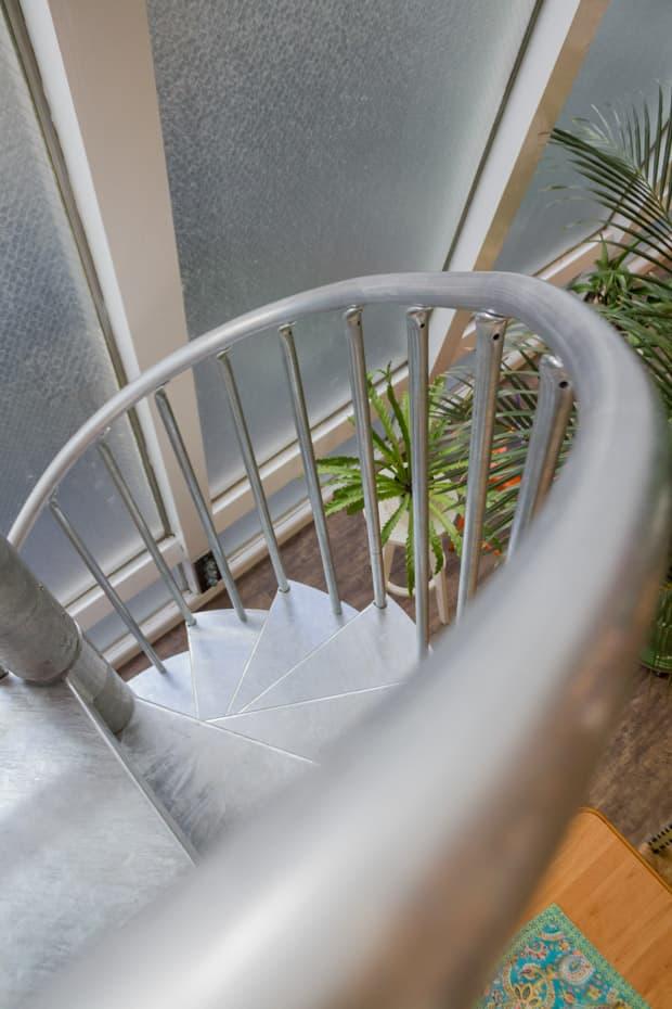 Galvanized Spiral Staircase handrail