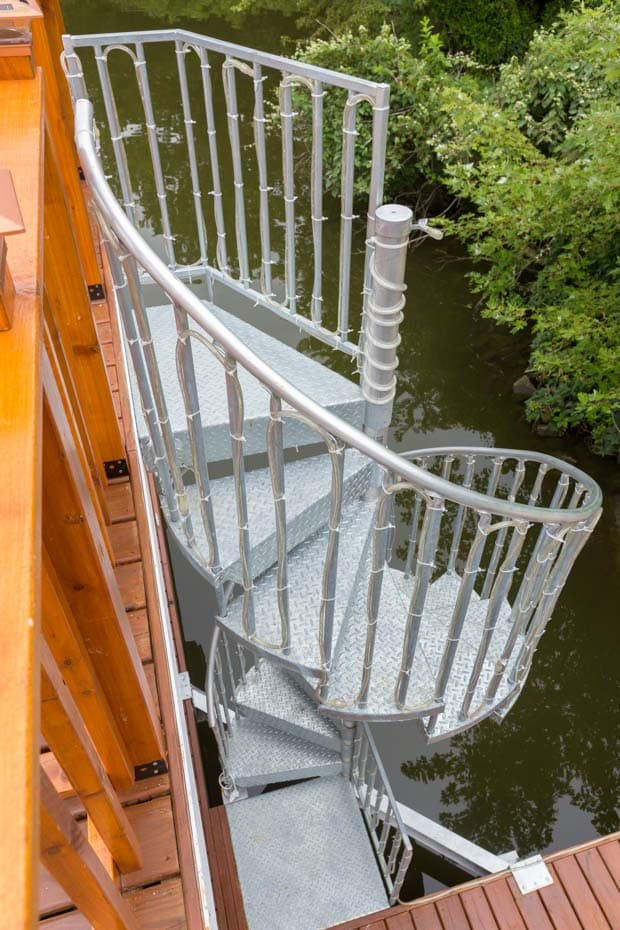 Galvanized Spiral Staircase 5ft code compliant