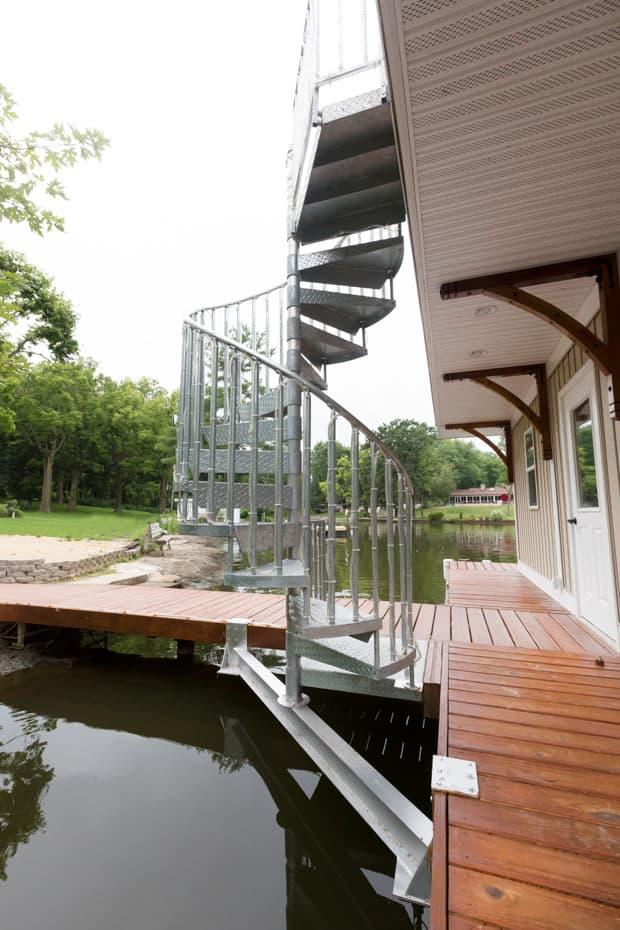 Galvanized Spiral Staircase support beam