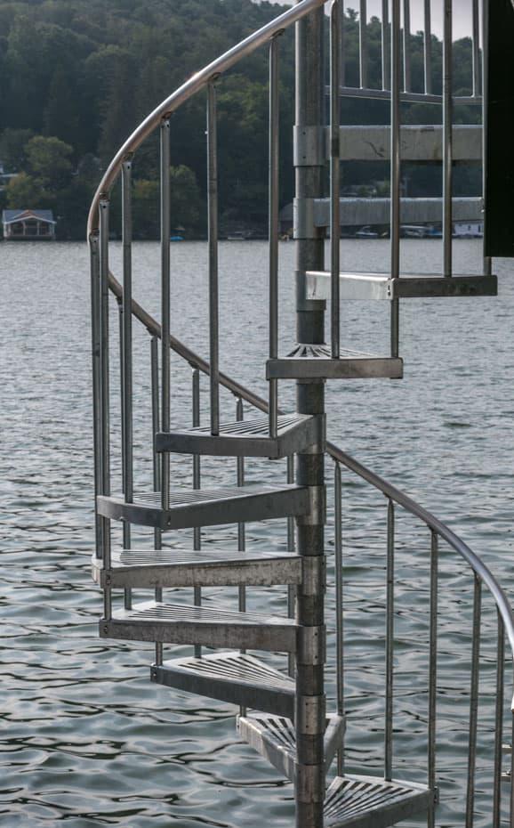 Galvanized Spiral Staircase salt water resistant