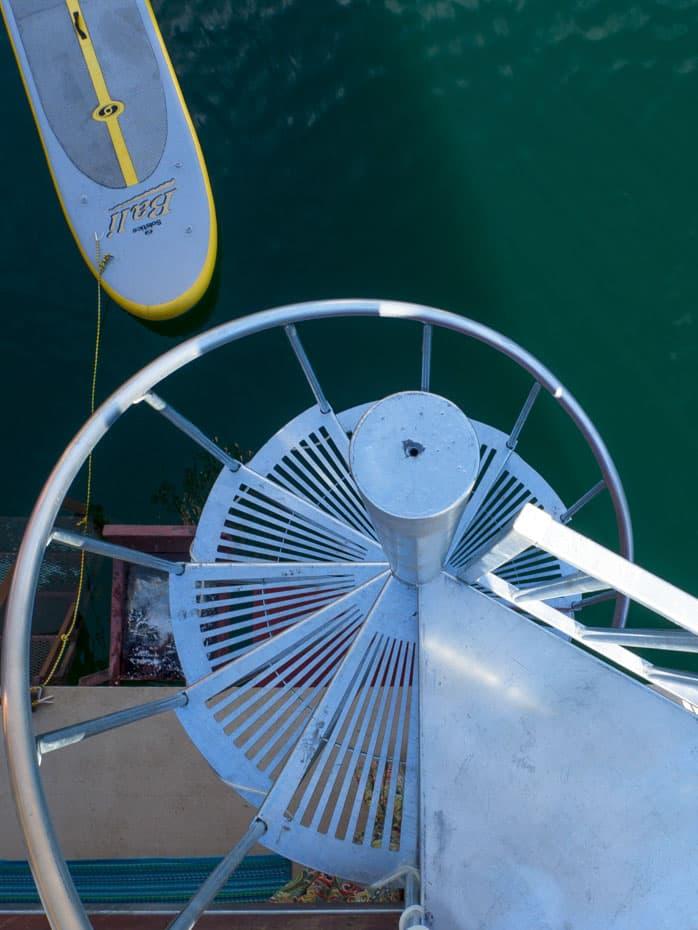 Galvanized Spiral Staircase recreational
