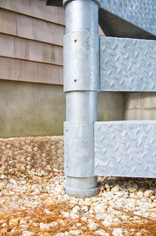 Galvanized Spiral Staircase adjustable sleeve