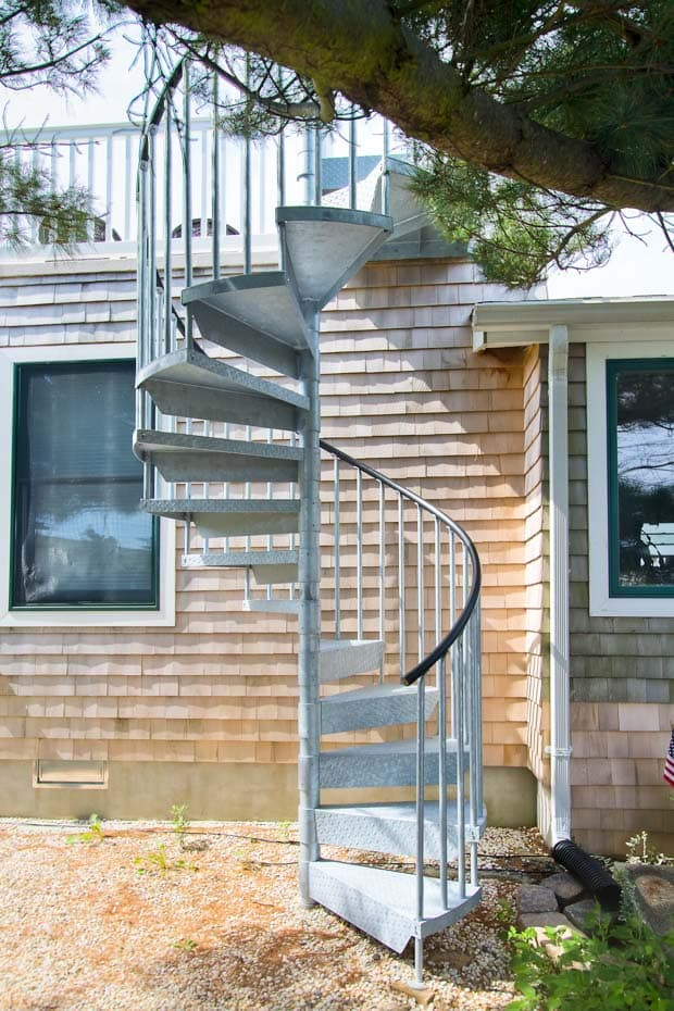 Galvanized Spiral Staircase roof access