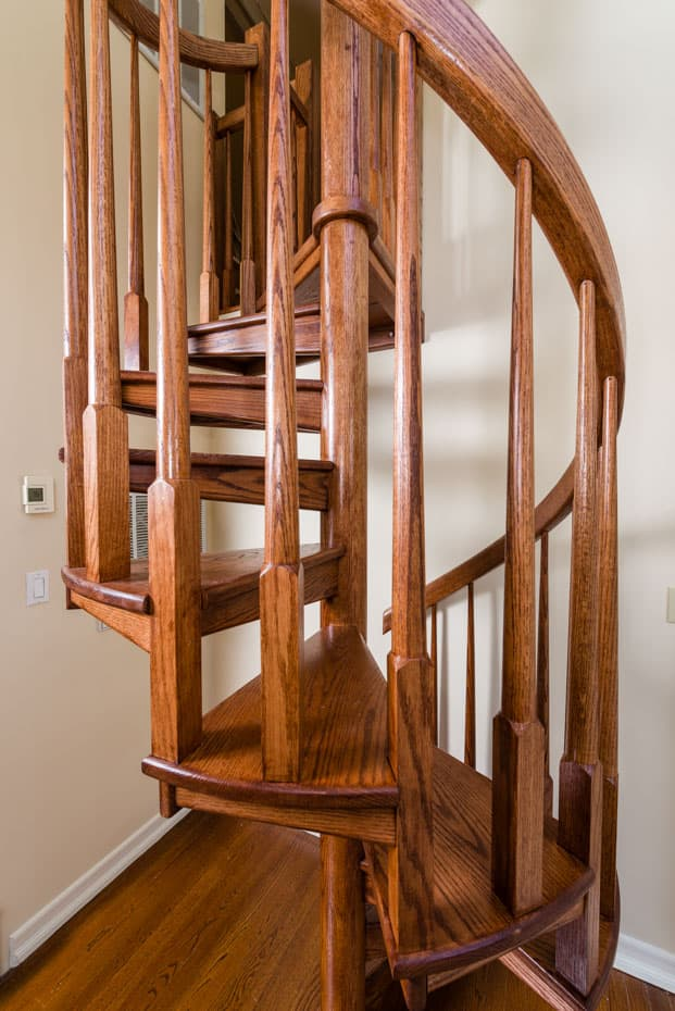 All wood Spiral Staircase 4 foot diameter