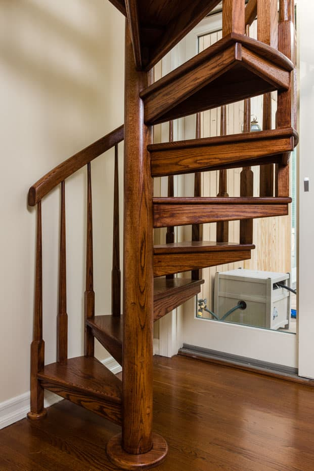All wood Spiral Staircase finished wood