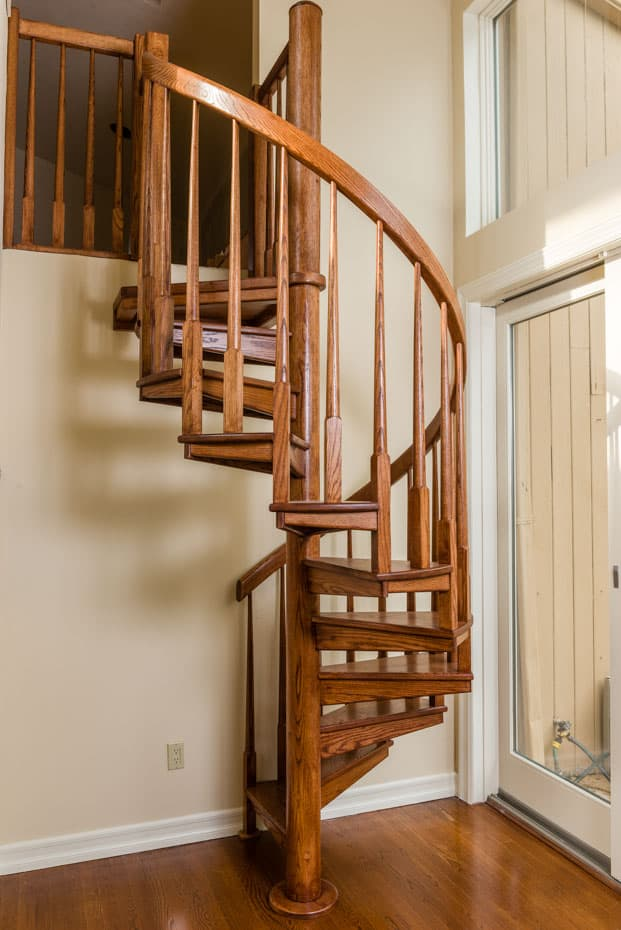 All wood Spiral Staircase small