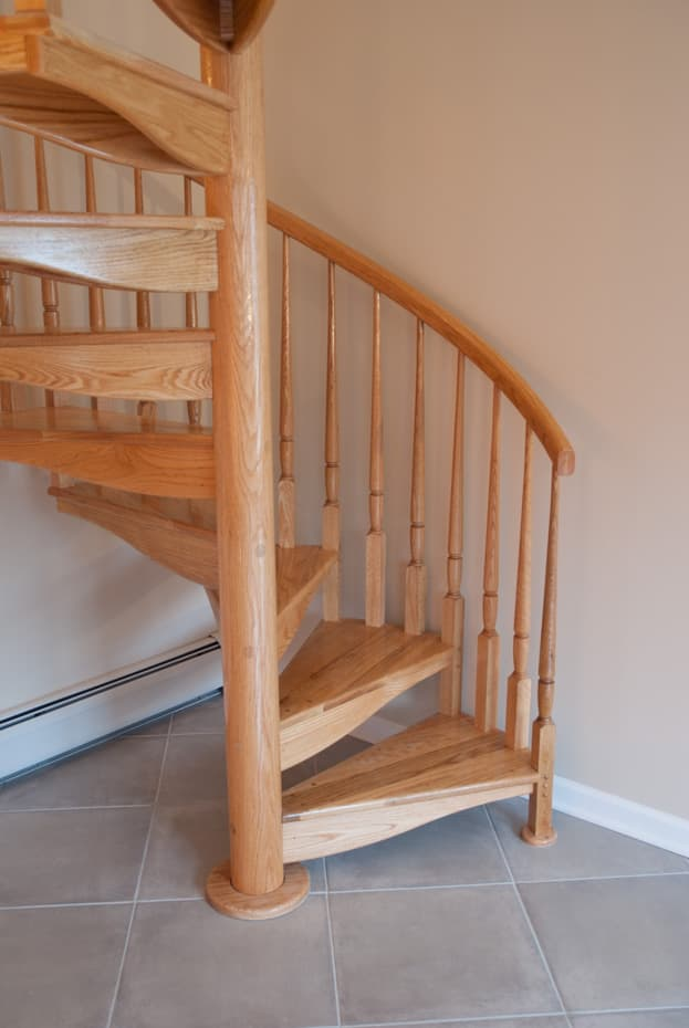 All wood Spiral Staircase building code compliant