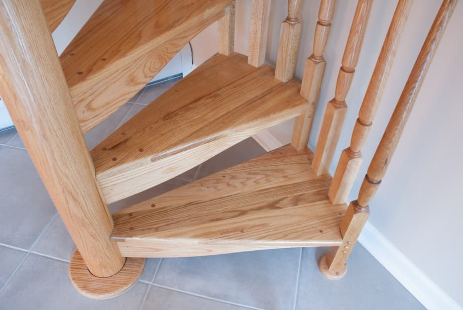 All wood Spiral Staircase entry