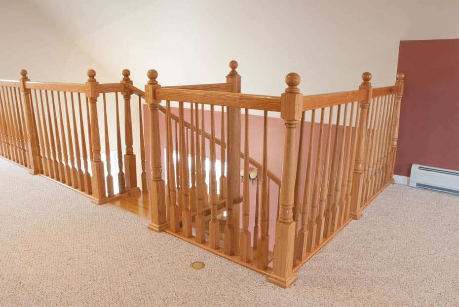 All wood Spiral Staircase loft entry point