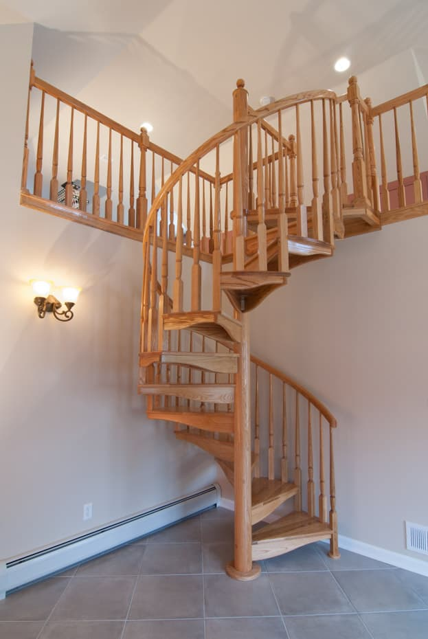 All wood Spiral Staircase loft