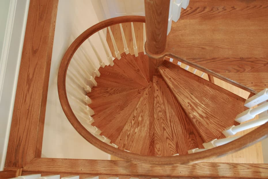 All wood Spiral Staircase narrow opening