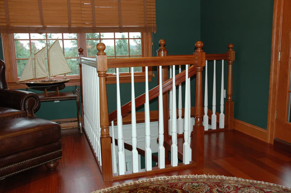 All wood Spiral Staircase traditional style