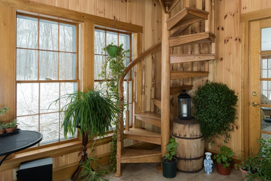 All wood Spiral Staircase 5 foot diameter