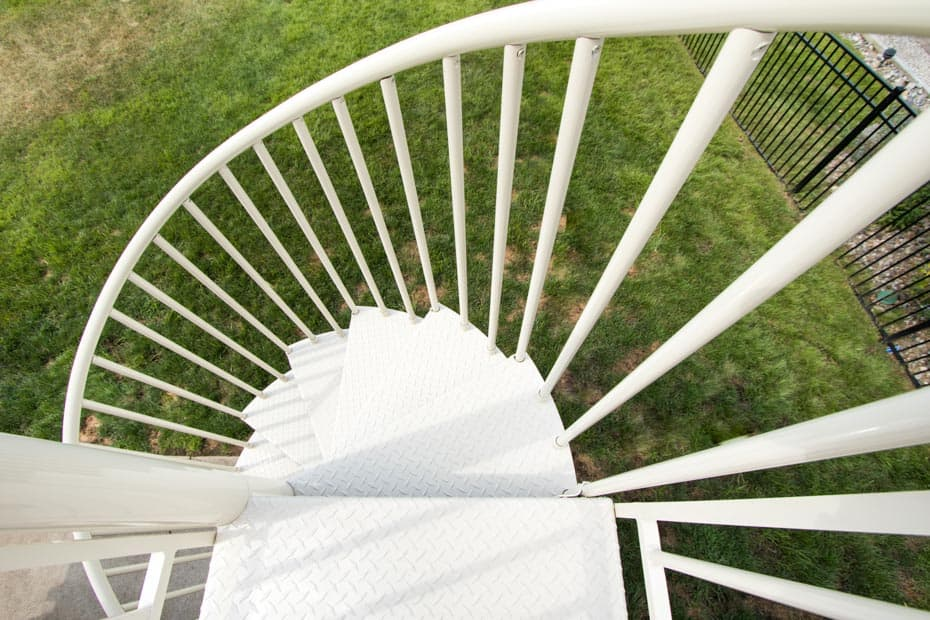 Aluminum Deck Spiral Staircase Left hand Up
