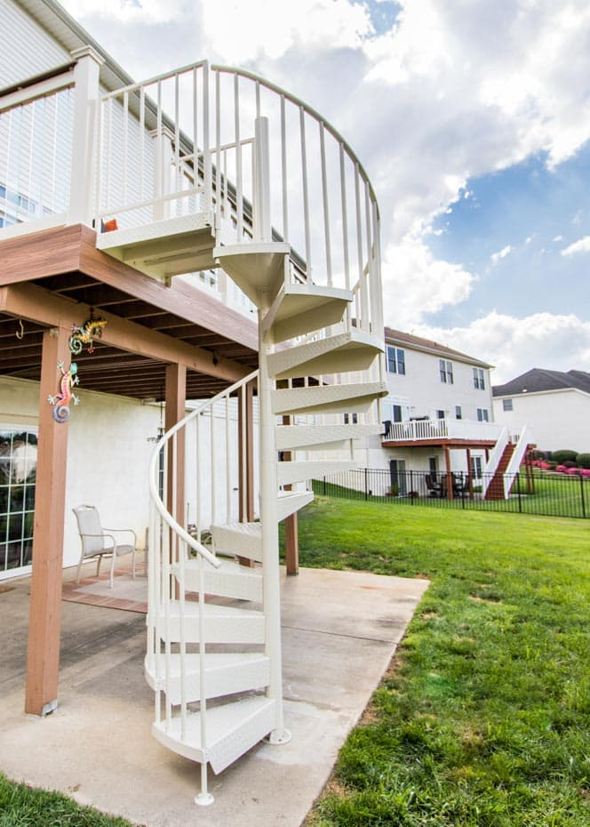 Aluminum Deck Spiral Staircase Patio