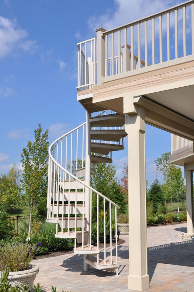 Aluminum Deck Spiral Staircase Balcony Stair