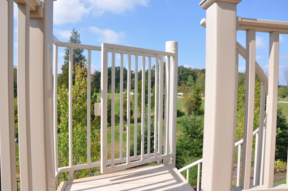 Aluminum Deck Spiral Staircase Platform Safety Gate
