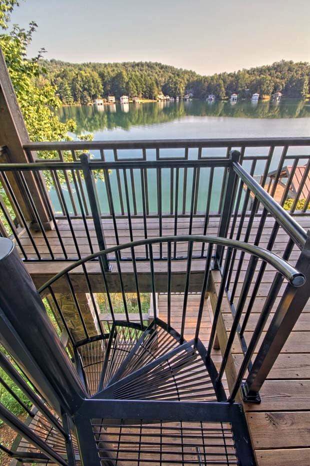 Aluminum Deck Spiral Staircase Deck Railing