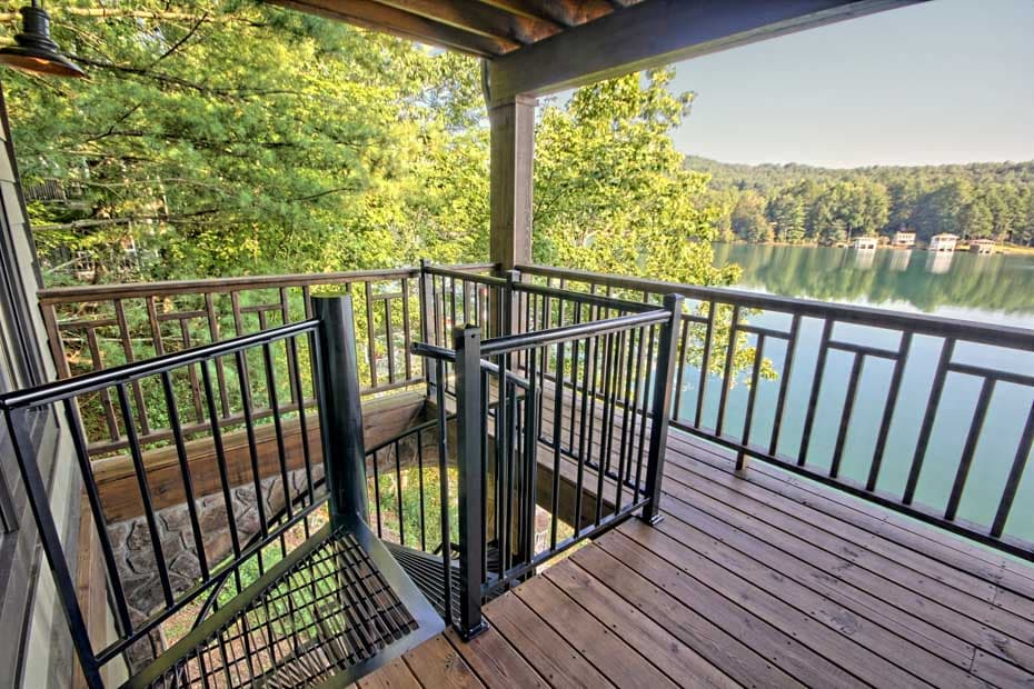 Aluminum Deck Spiral Staircase Lake House