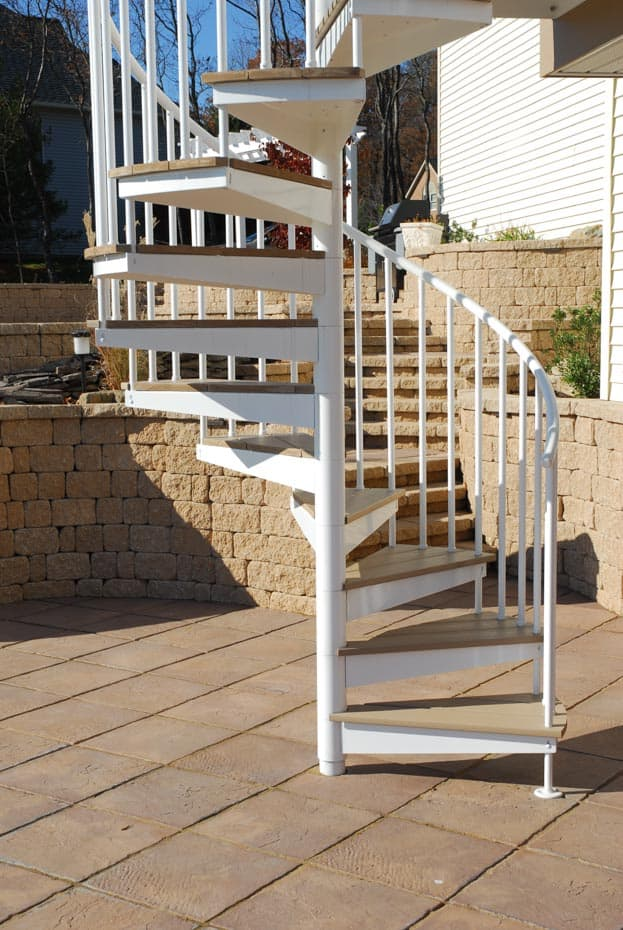 Aluminum Deck Spiral Staircase Patio Pavers