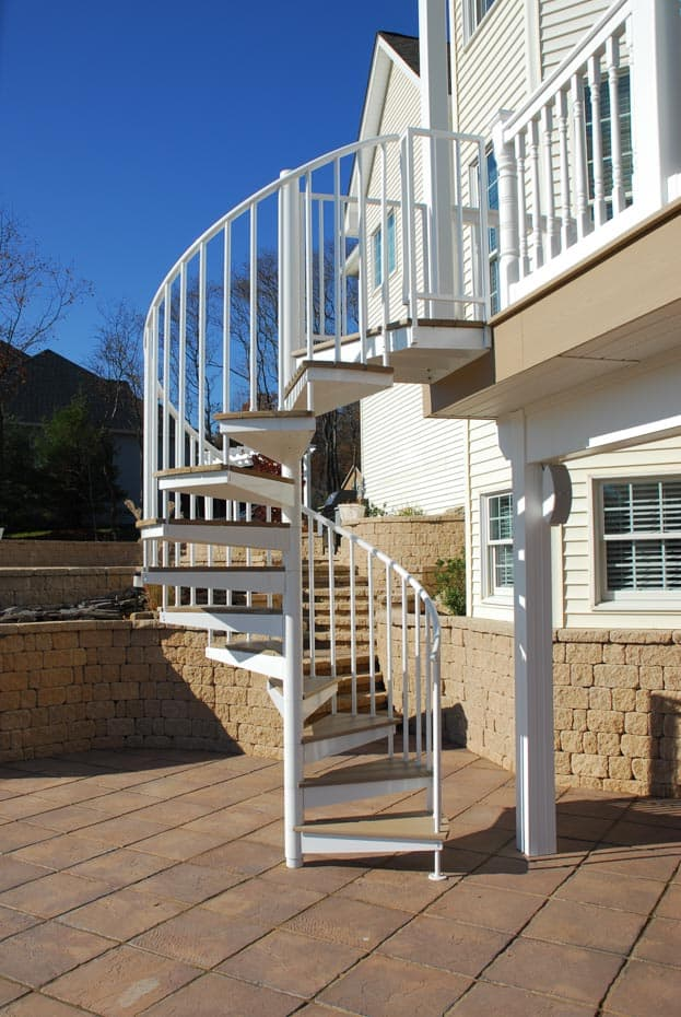Aluminum Deck Spiral Staircase Wood Tread Covers