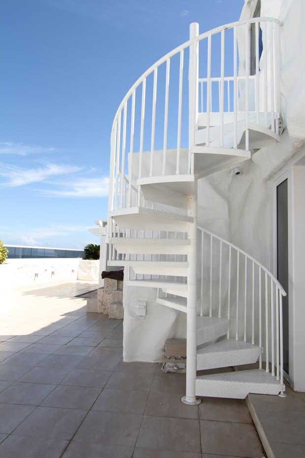 Aluminum Deck Spiral Staircase Beach House