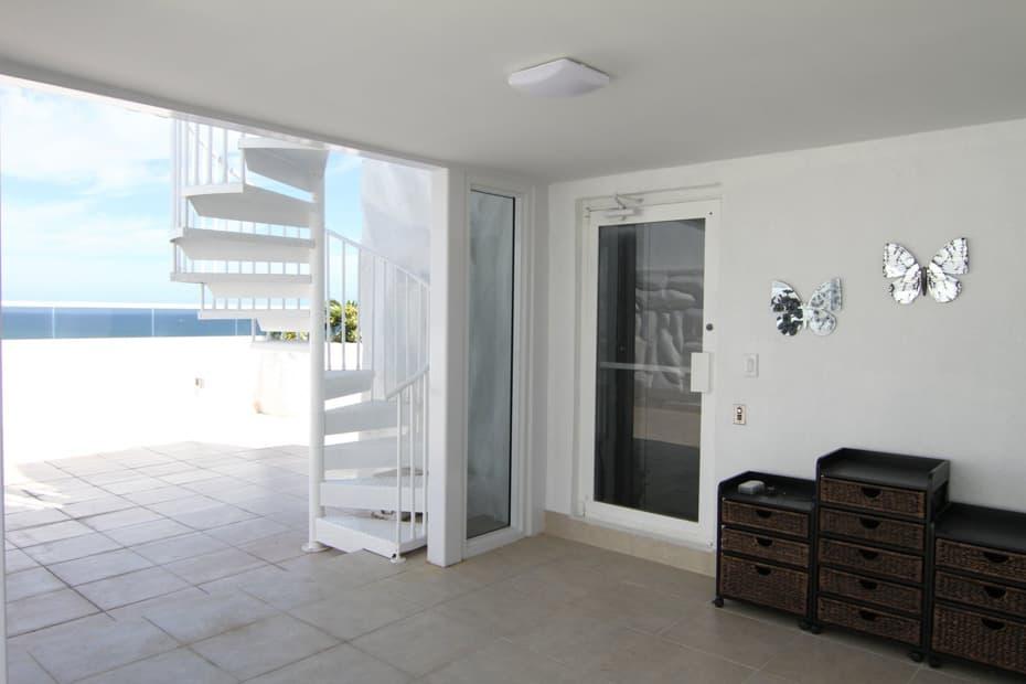 Aluminum Deck Spiral Staircase Outdoor