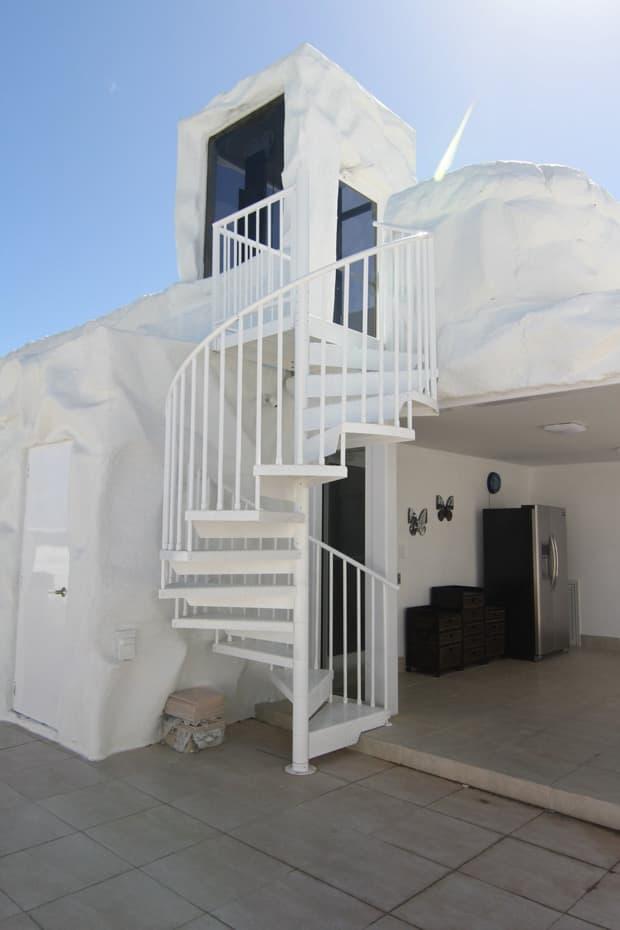 Aluminum Deck Spiral Staircase Shore Home