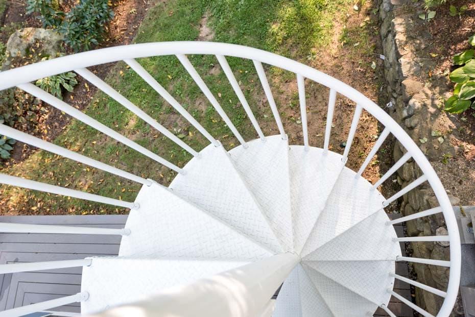 Aluminum Deck Spiral Staircase Railing