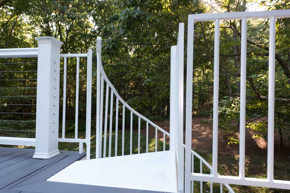 Aluminum Deck Spiral Staircase Well Enclosure