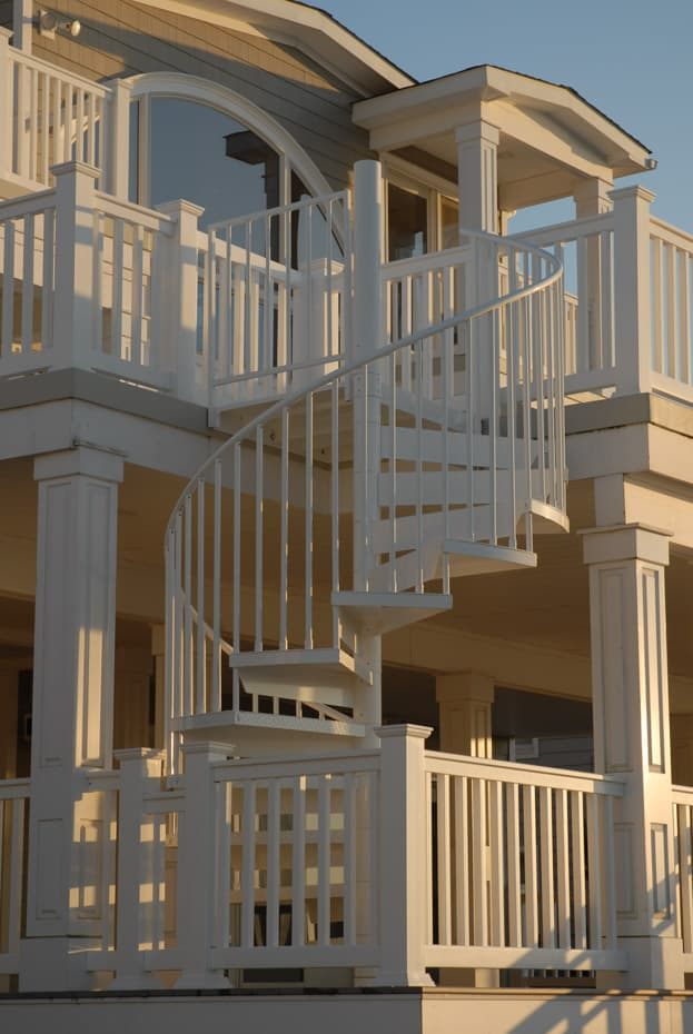 Aluminum Deck Spiral Staircase Balcony Fence